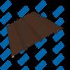 Софит Tecos Каштан Темный частичная перфорация посередине
