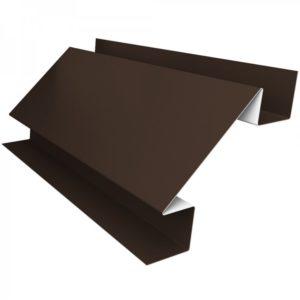 Угол внутрений металлический шоколад 8017