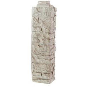 Угол наружный для Цокольного сайдинга FineBer Скала Мелованный белый