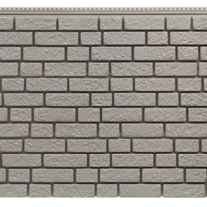 Фасадная панель Foundry Кирпич Серая глина