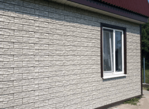 Фасадная панель Ю-пласт Стоун Хаус Сланец Светло-серый