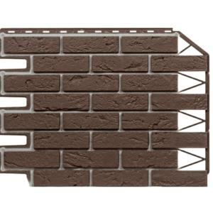 Фасадная панель Дачный Кирпич Баварский Темно-коричневый