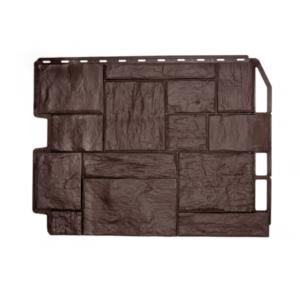 Фасадная панель Дачный Туф Темно-коричневый