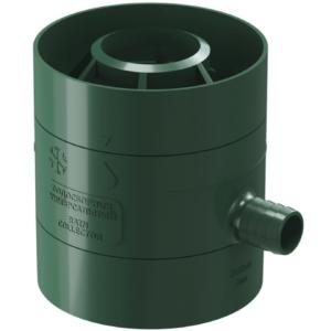 Заглушка желоба Docke ПВХ Standard D120/80 мм зеленая