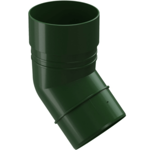 Колено трубы Docke ПВХ Standard D120/80 мм угол 45 градусов зеленое