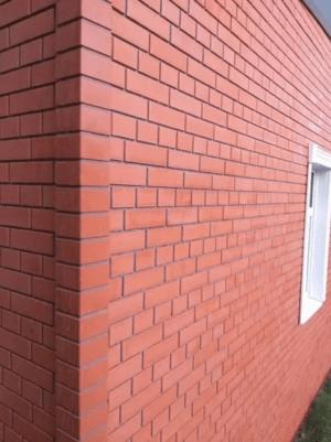 Термосайдинг Доломит Кирпич Красный прокрашенный 20 мм