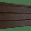 Софит Ю-пласт PRO Орех темный полностью перфорированный
