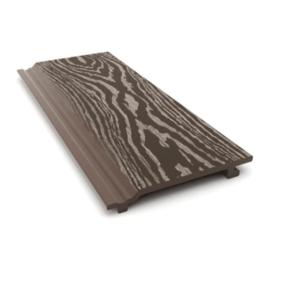 Фасадная доска из ДПК Savewood Sorbus тангенциальный распил Темно-коричневая