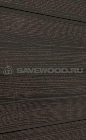 Фасадная доска из ДПК Savewood Sorbus радиальный распил Темно-коричневая