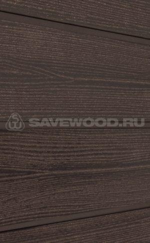Фасадная доска из ДПК Savewood Sorbus радиальный распил Терракот