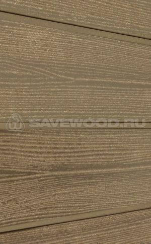 Фасадная доска из ДПК Savewood Sorbus радиальный распил Тик