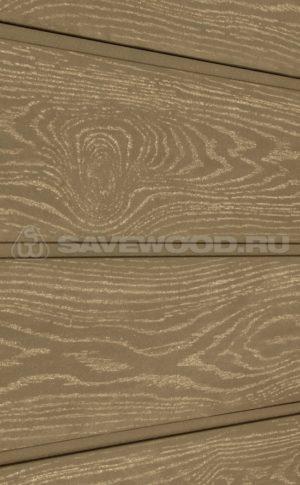 Фасадная доска из ДПК Savewood Sorbus тангенциальный распил Тик