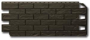 Фасадная панель Vilo Brick Тёмно-коричневый без шва